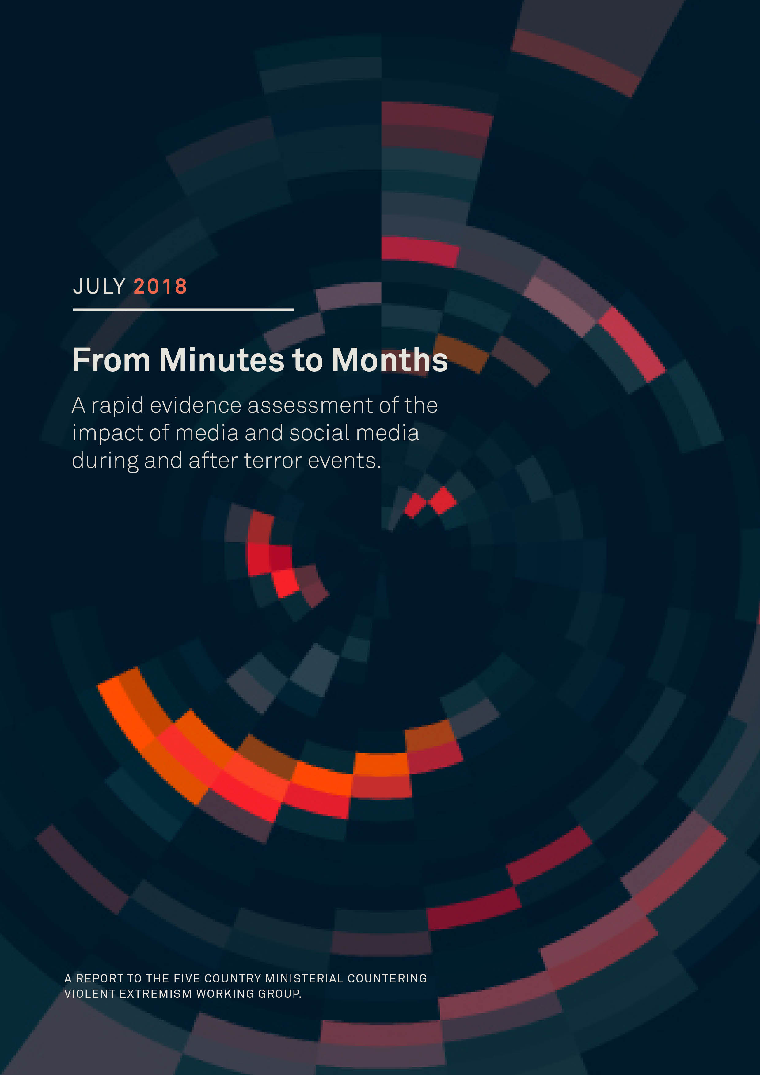 From Minutes to Months - A rapid evidence assessment of the impact of media and social media during and after terror events