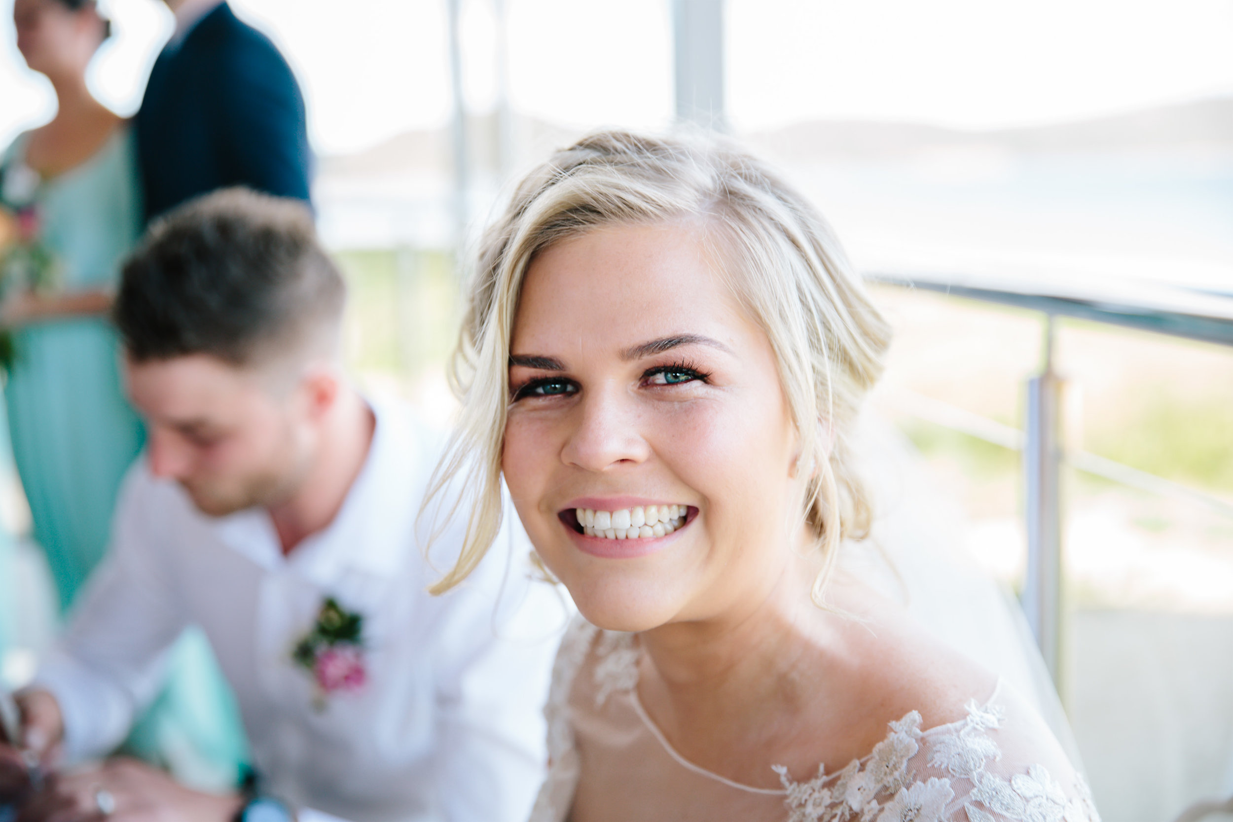 Hills District, Sydney Wedding photography - happy bride