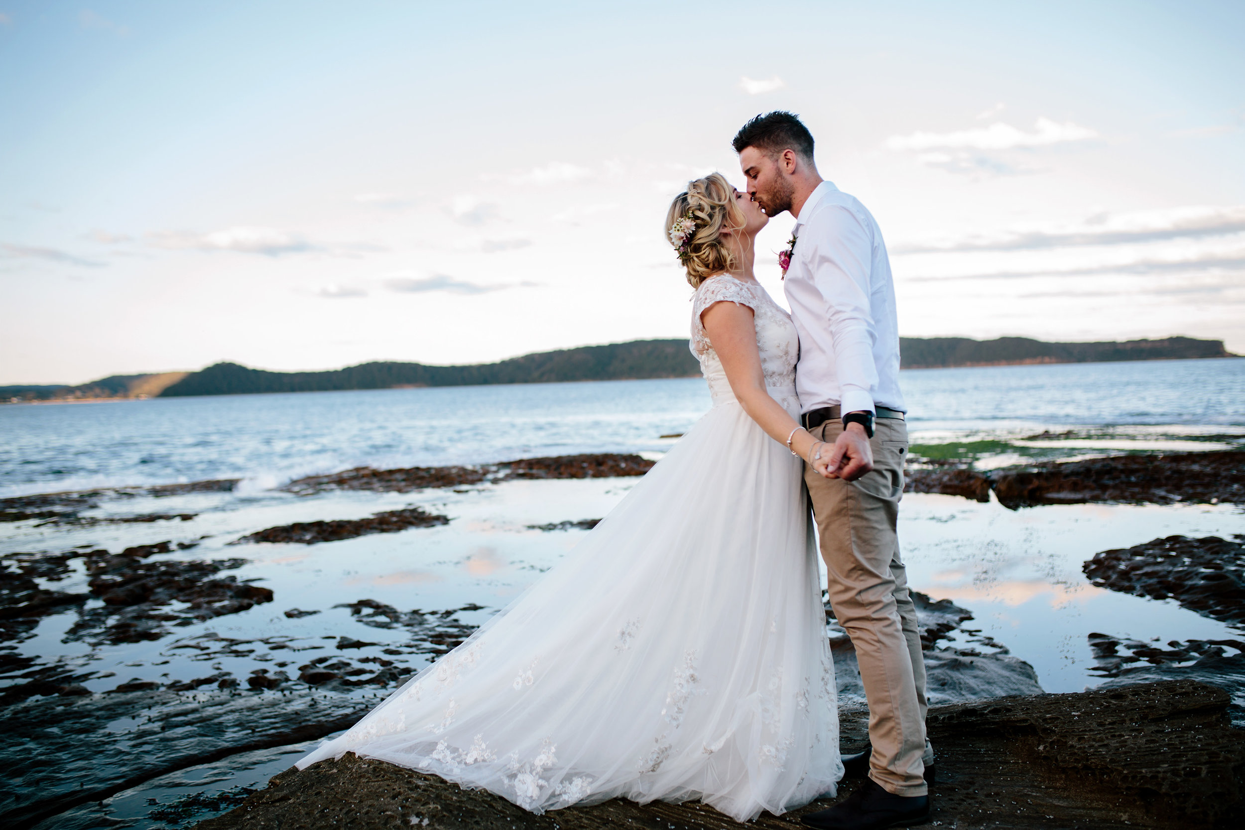 Hills District, Sydney Wedding photography - pearl beach headland