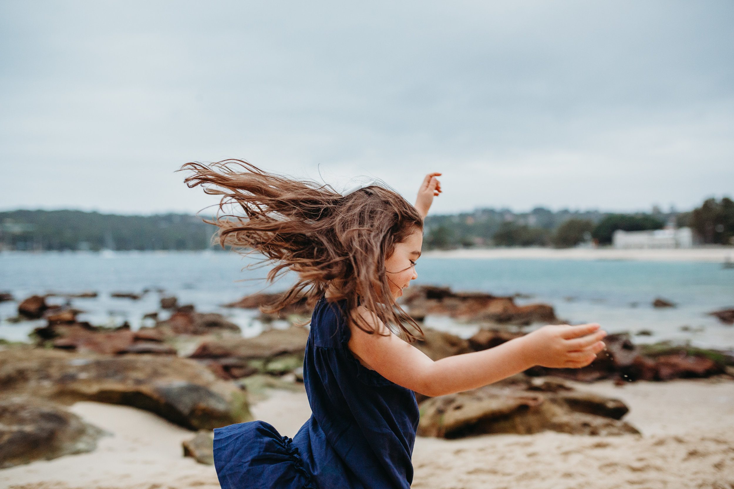 Twirl girl - Balmoral beach