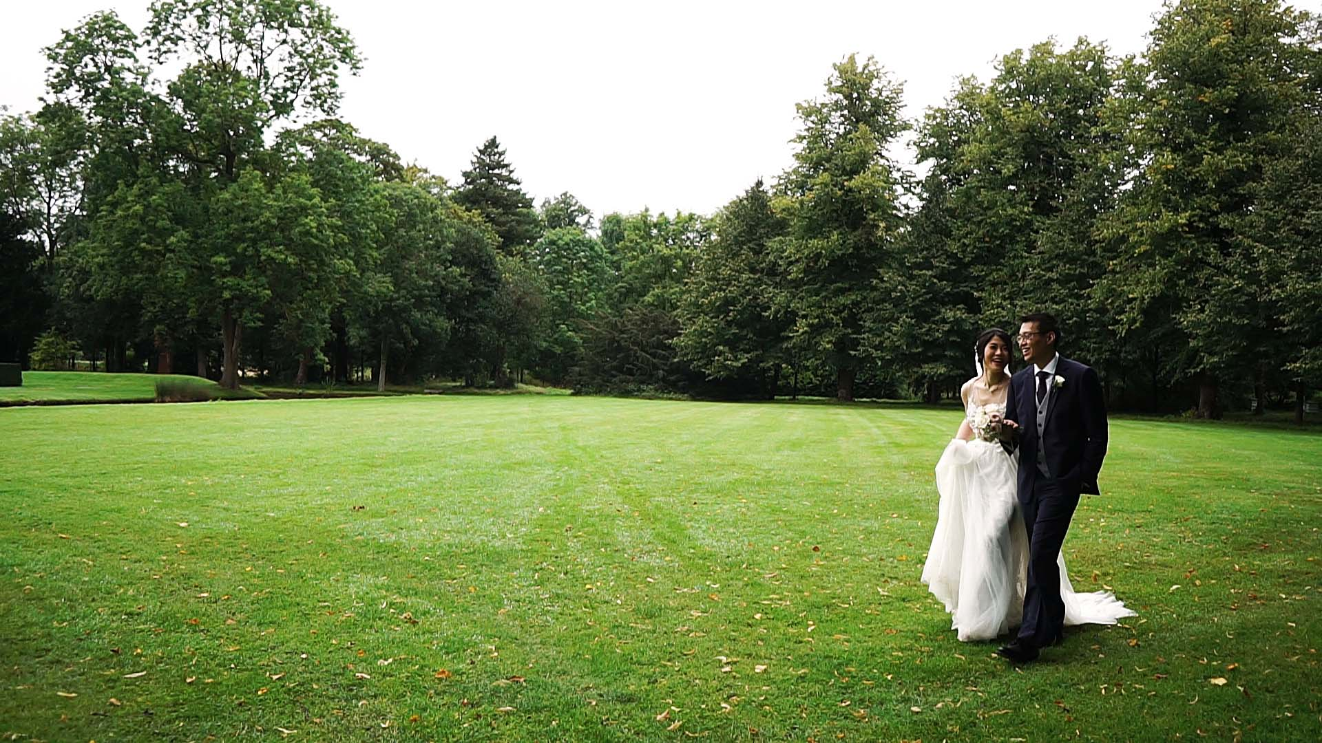 Great Fosters wedding video couple
