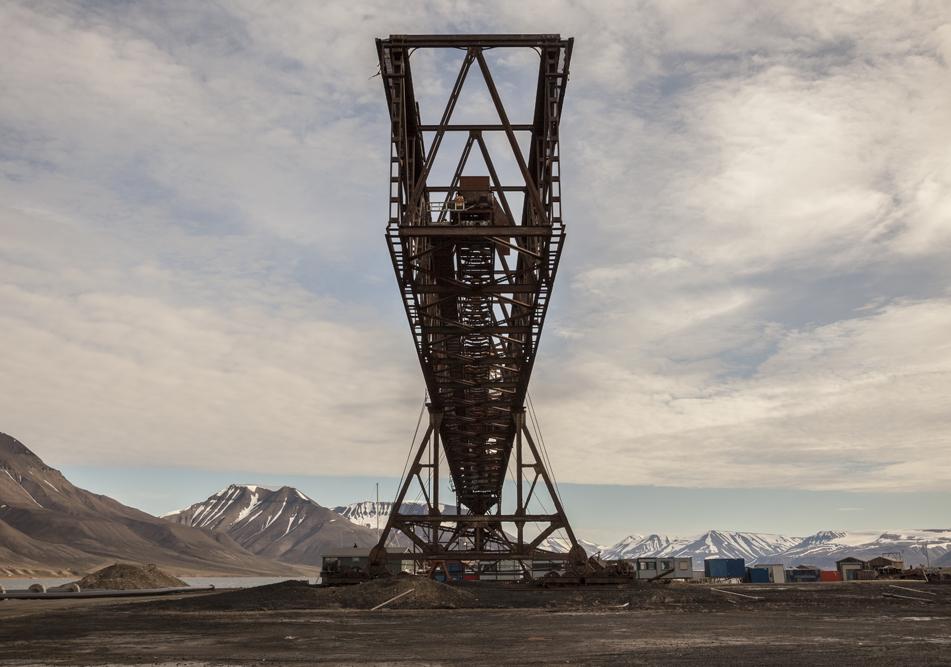 Titan Crane, Longyearbyen, Norwegian mining town, Svalbard