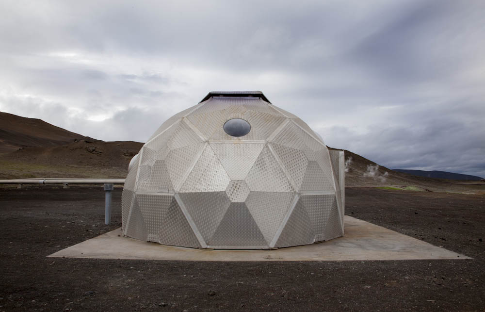 Geodesic Dome, Geothermal Power Plant, Krafla, Iceland