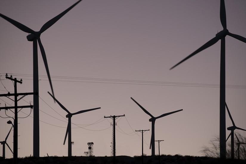 Wind-Farm, Palm Springs, California, USA, 2015