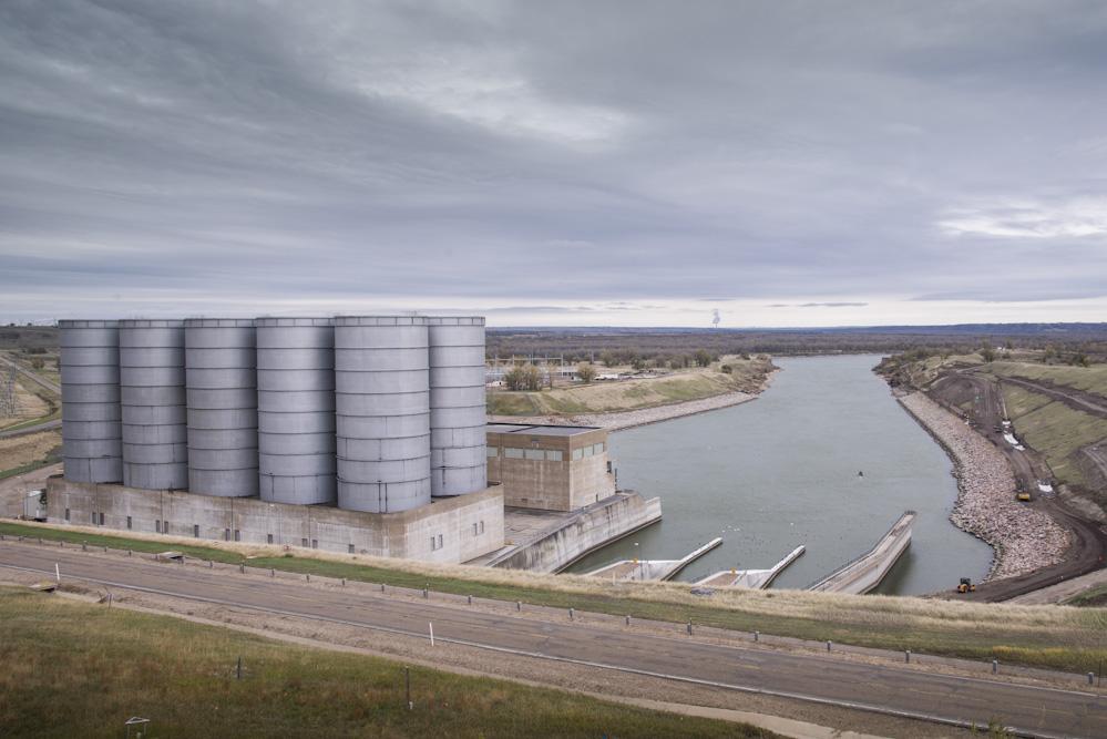 Hydropower turbines, Garrison Dam, Lake Sakakawea, North Dakota, USA