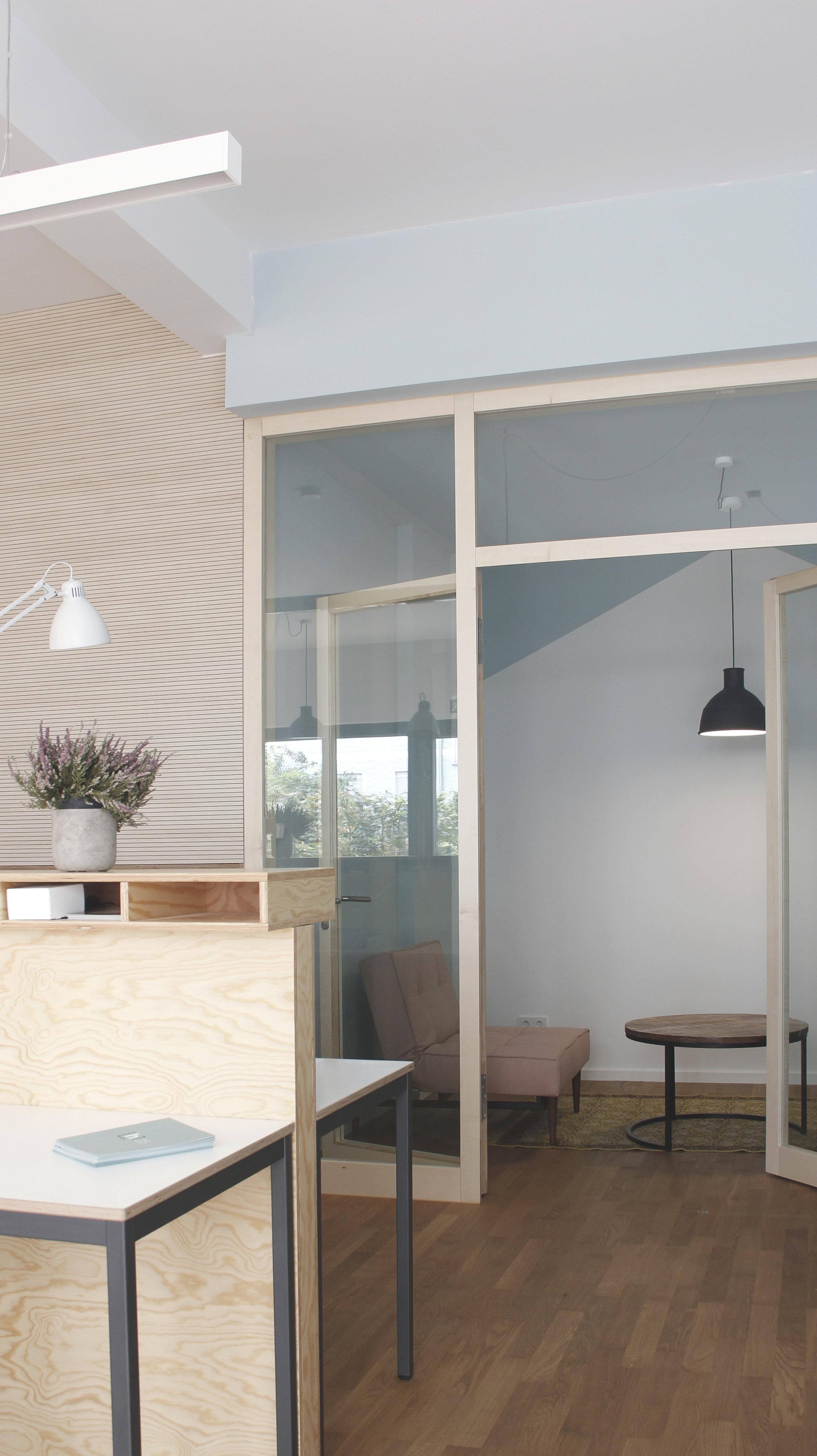Foto: Bespiel für die Verknüpfung von Architektur und Akustik im Kinderraum des  Coworkingspace Easy-Busy .