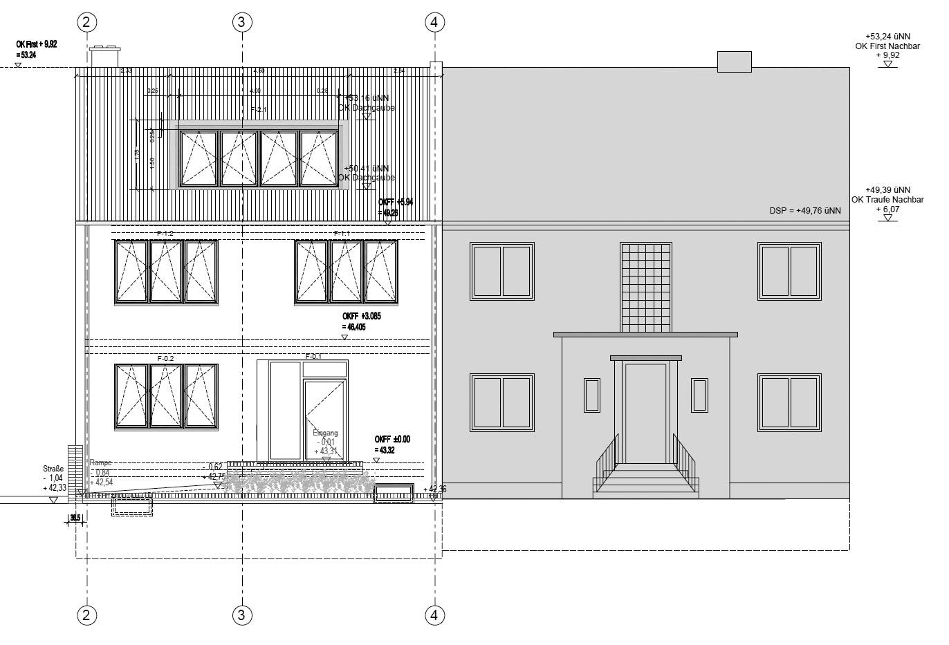 Beispiel bauakustische Beratung in Berlin Reinickendorf zur schalltechnischen Verbesserung der Trennfuge zum Nachbarhaus