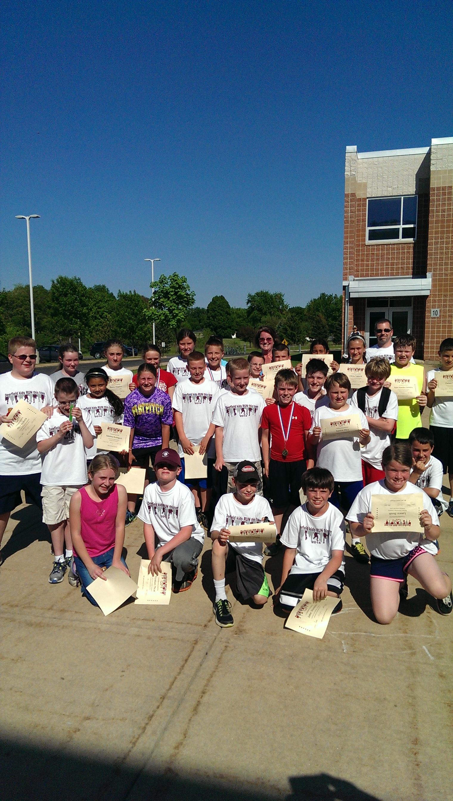 Deerfield on the run. After school running club grades 4 through 6.