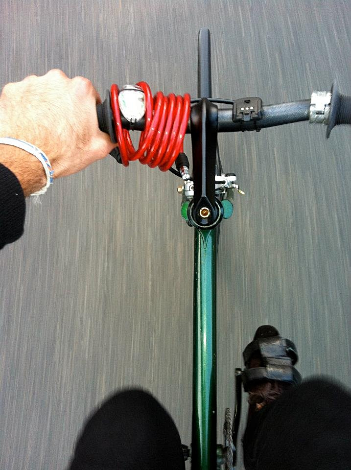 Me on my bike 'Greenie' smashing it through Newtown - the way it should be!