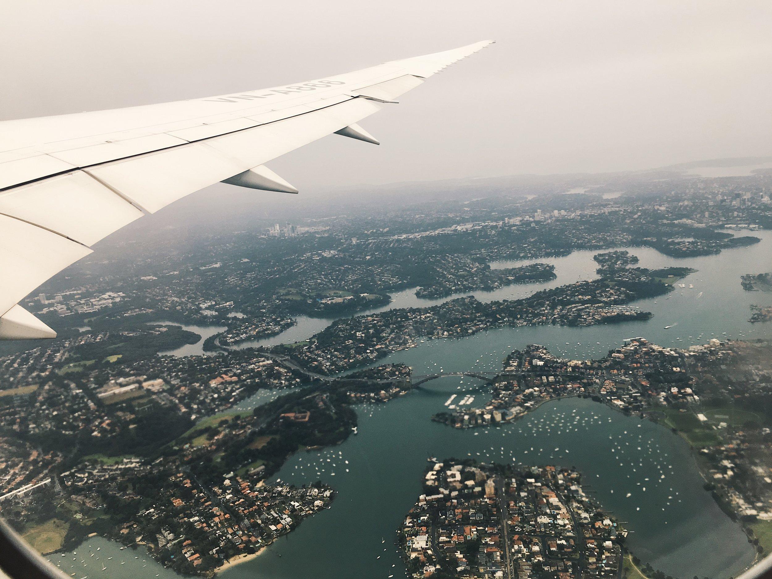 Leaving Sydney...
