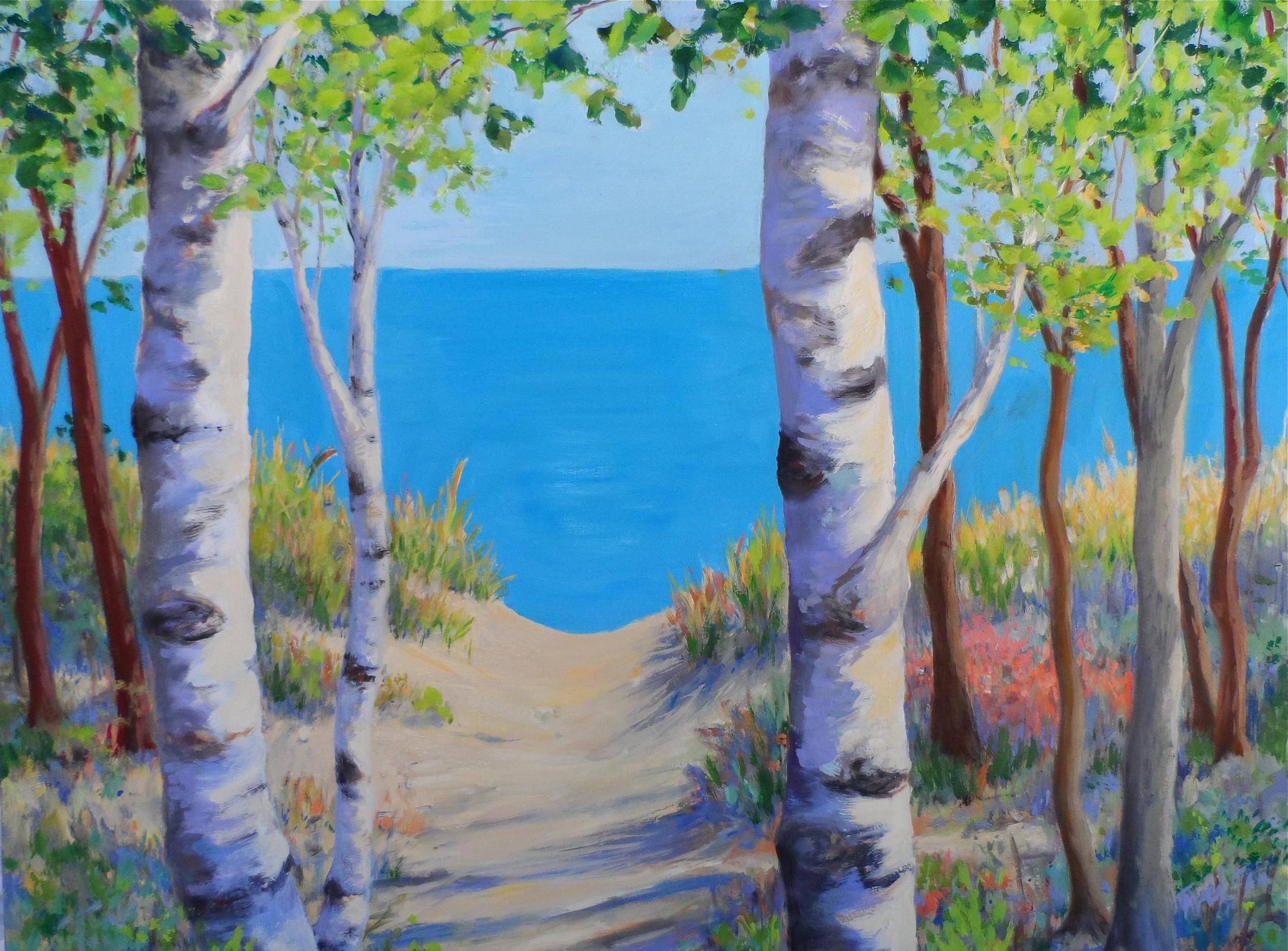 Lake Michigan Birches