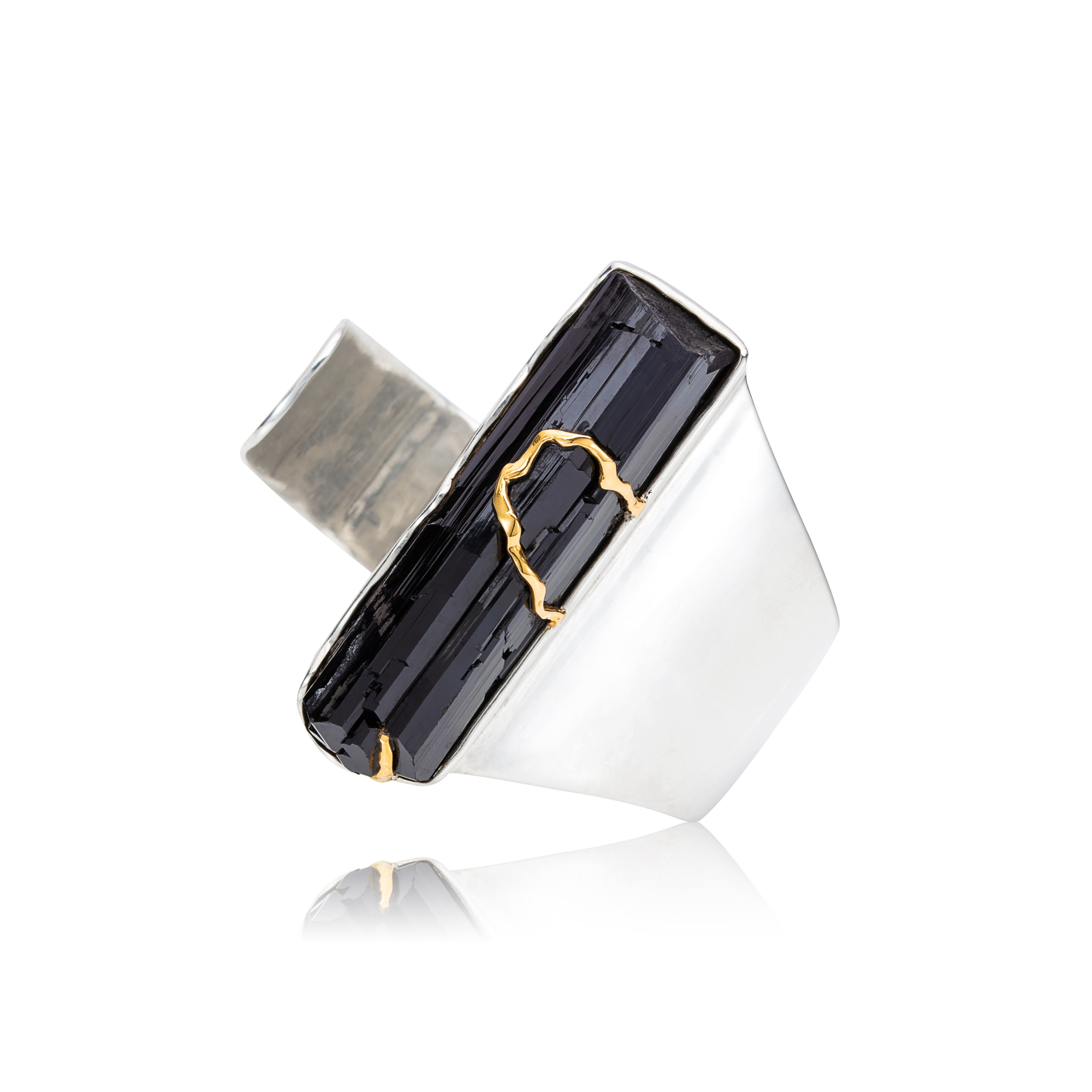 纳米比亚黑色电气石,925银手镯