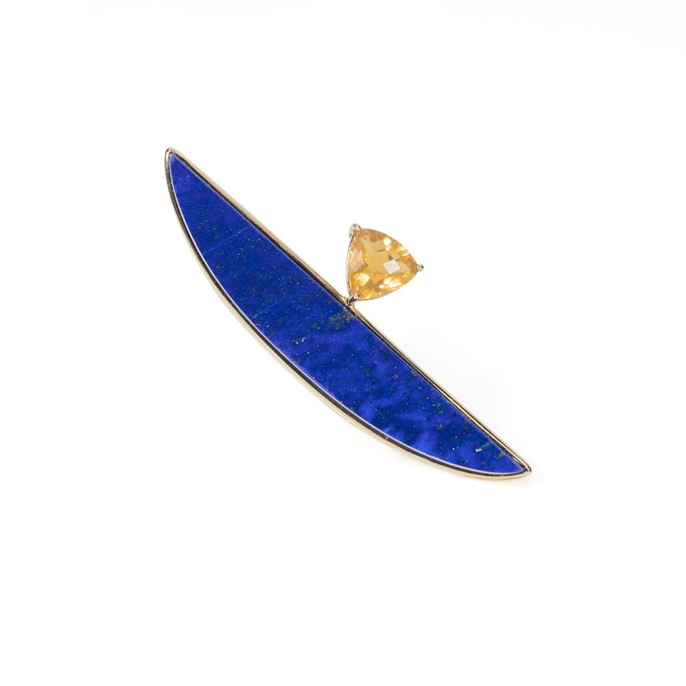 阿富汗青金石,AAA级别,墨西哥三角形切工火欧泊,18k黄金戒指