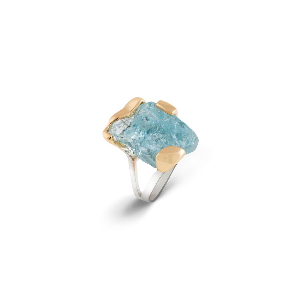 阿富汗青金石戒指,附18K流金,18K黄金镶嵌