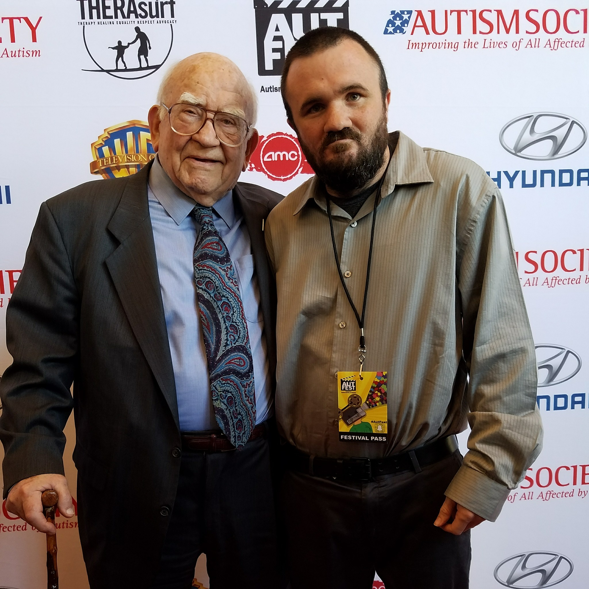 Dustin with Ed Asner