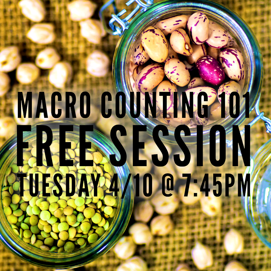 Want to learn more about counting macronutrients in a way that is sustainable? If you want to get leaner, lose weight, and/or build muscle, you have to get your macros in check. Let us help you get started for FREE. And if you're reading this and aren't exactly sure what a macro is, you definitely need to show up. Space is limited. -