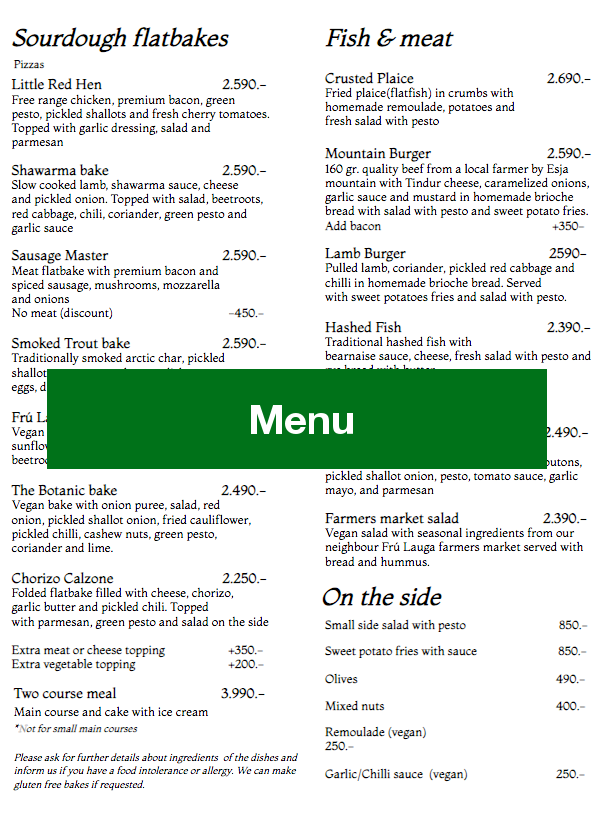 Please click on image to see the menu