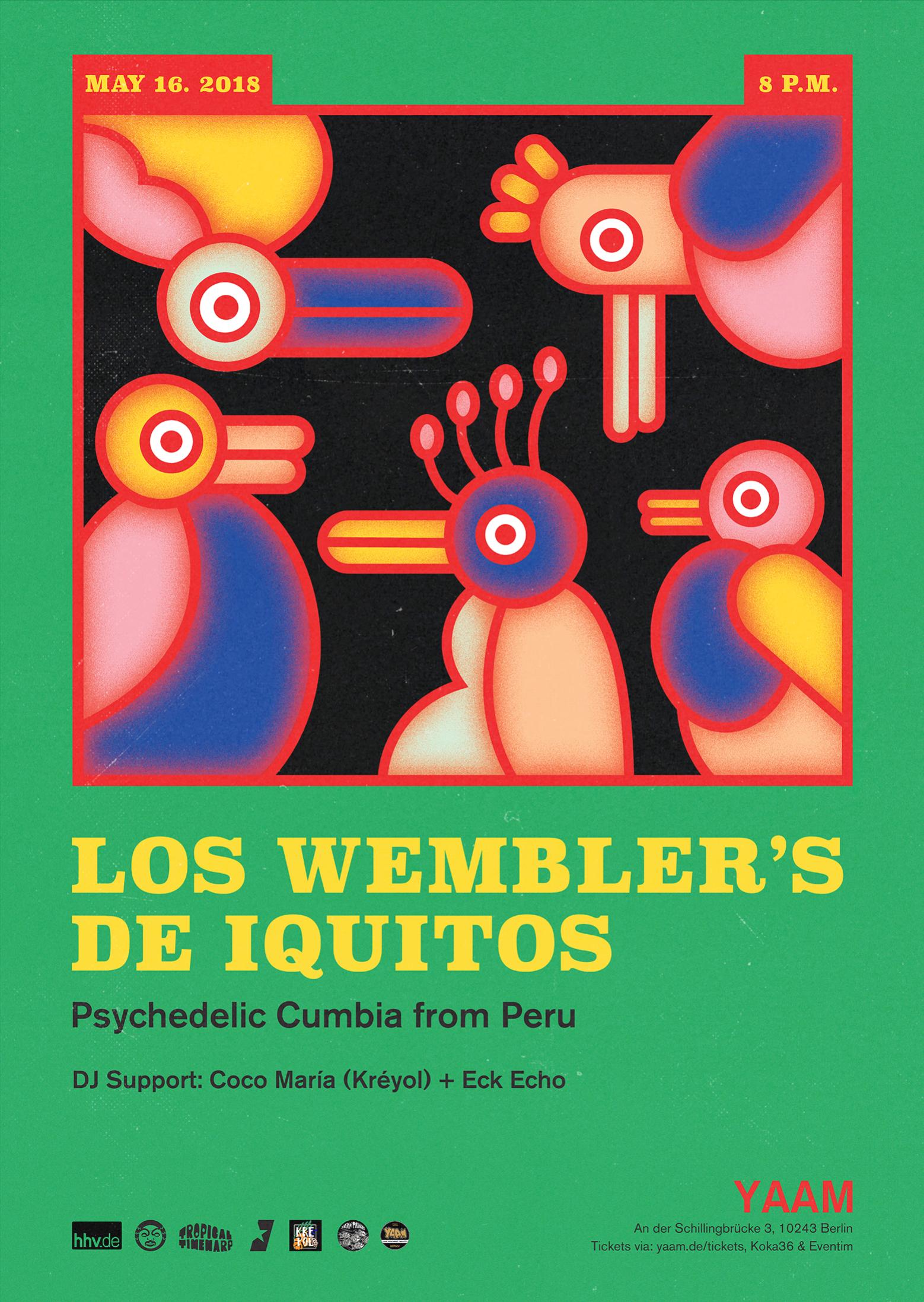 Poster for Wembler's de Iquitos in Berlin