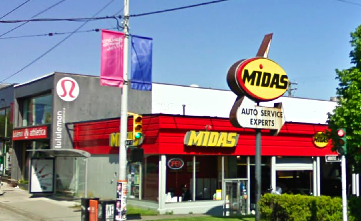 Original Midas Sign - Image Source: Google May 2009
