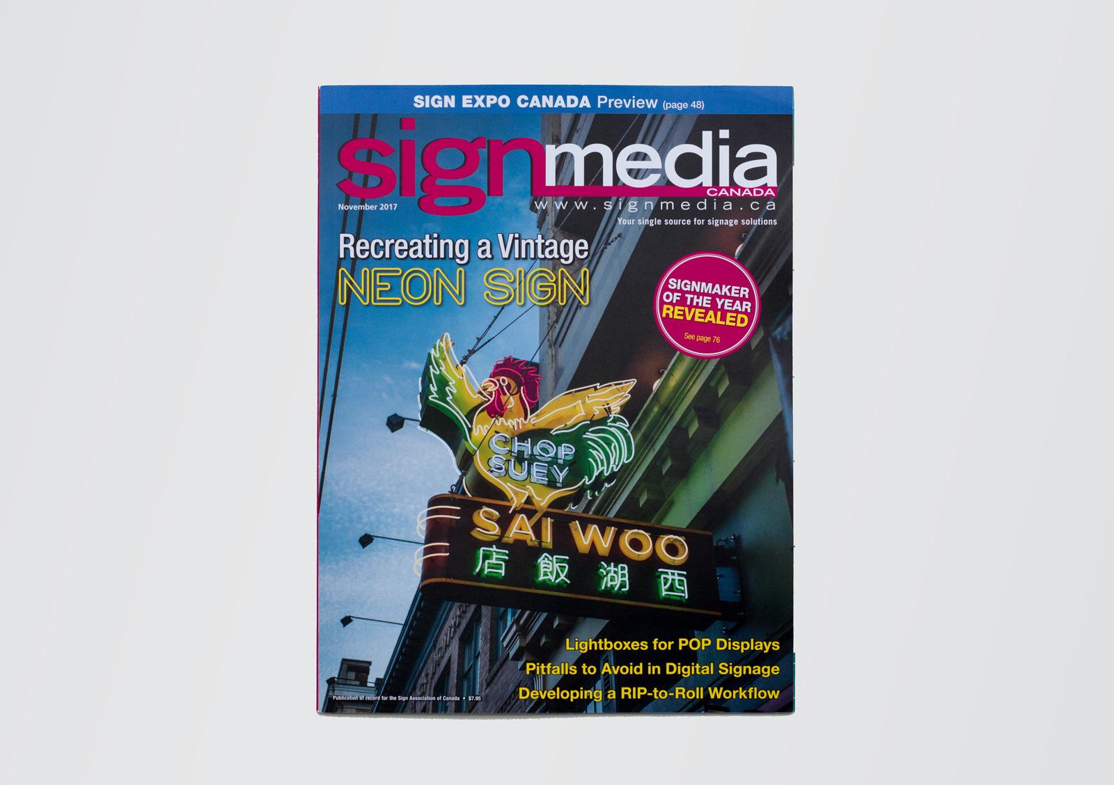 Story: Peter Saunders, Sign Media Canada  Cover Photo: Ocean Peak Studios