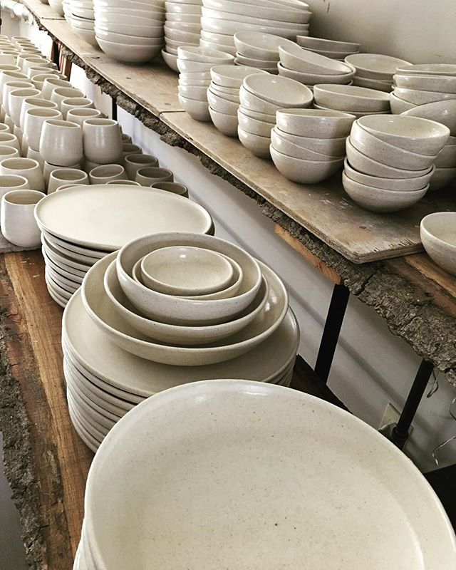 My March Madness...almost done! Dinnerware for the soon to open @shousugibanhouse in Water Mill NY.
