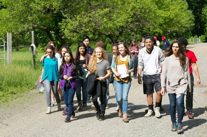 Students Walking at our Private High School in Rockland