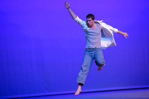Isaiah in 2015, doing his Senior Project on Modern Dance. Photo courtesy of  Dyana van Campen .