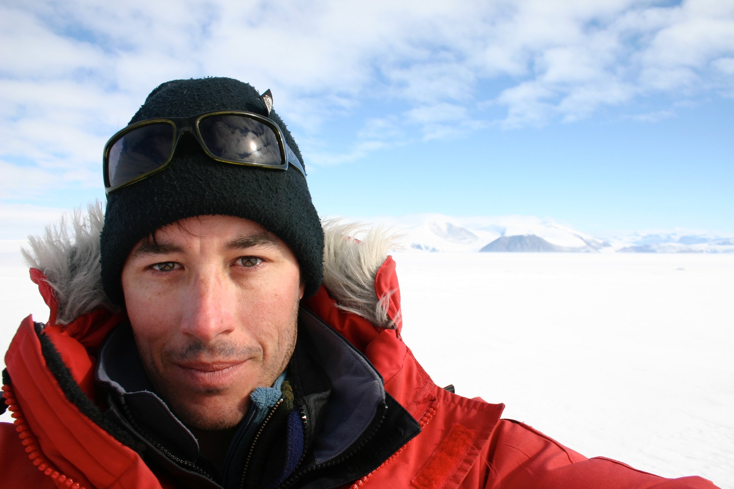 Ken Mankoff in Antarctica.