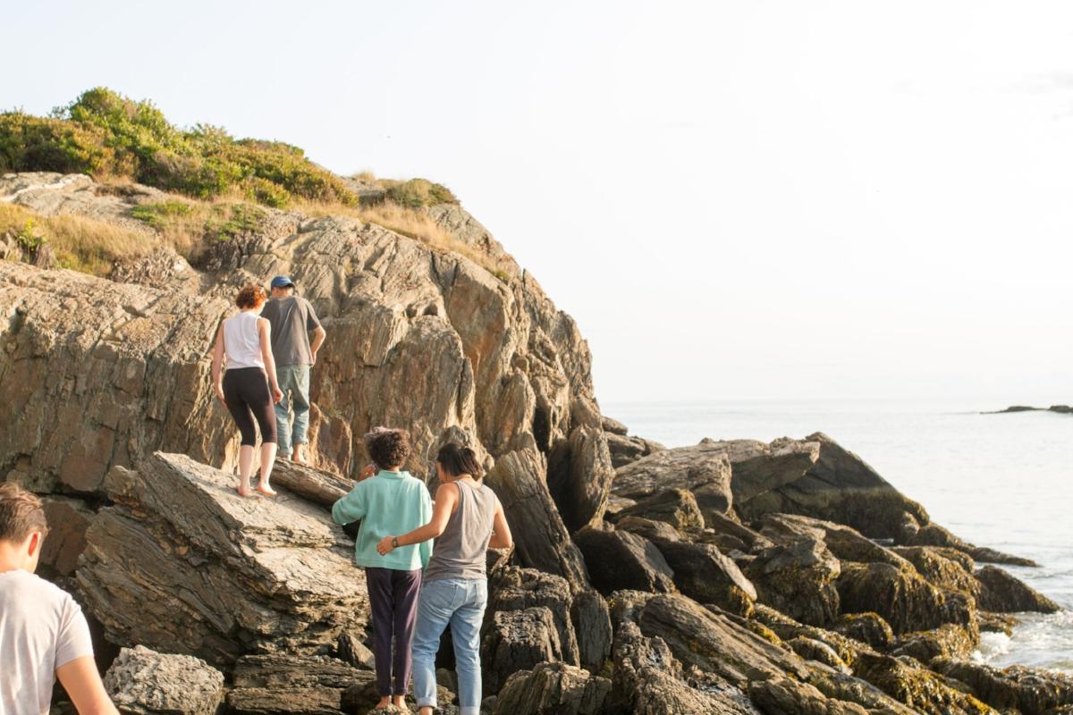 12th grade Marine Biology trip to Hermit Island, Maine.
