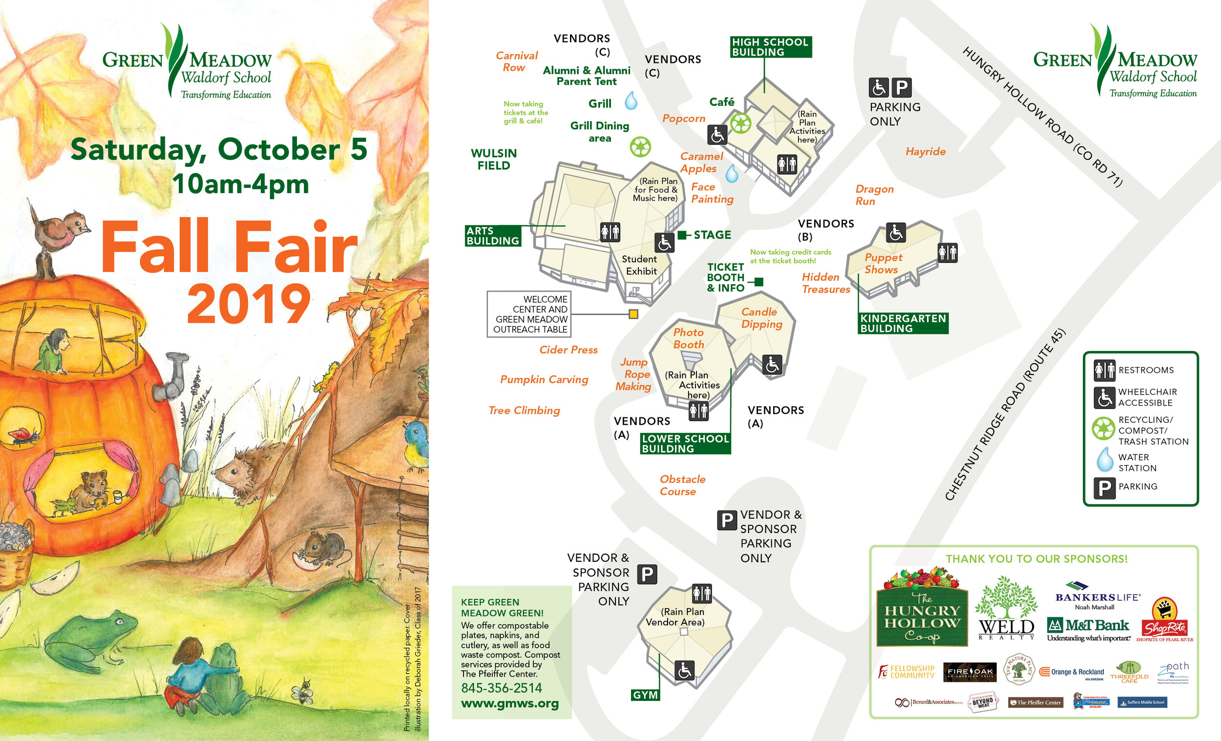 Click this map to see an enlargeable PDF. We will also have printed copies at the Fair.