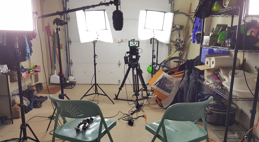 Behind the scenes in the  Arbuckle Industries West Studio  and  Architecture Videography Academy 's base before sitting down with Pete. Please don't mind all my junk in the background as this is what it takes to pull off a quick no-crew production.