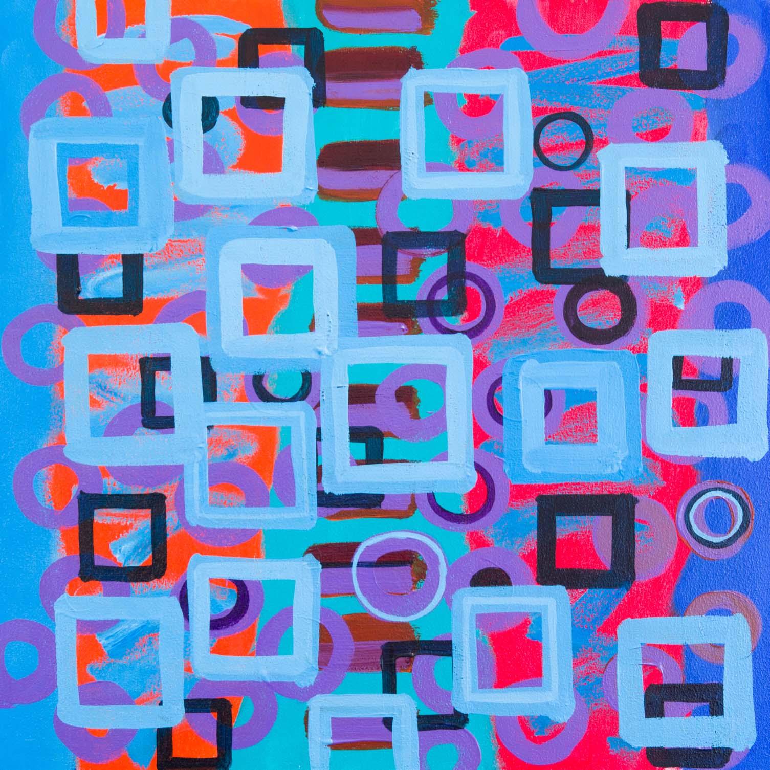 *Looking Through Blue II, 18 x 18