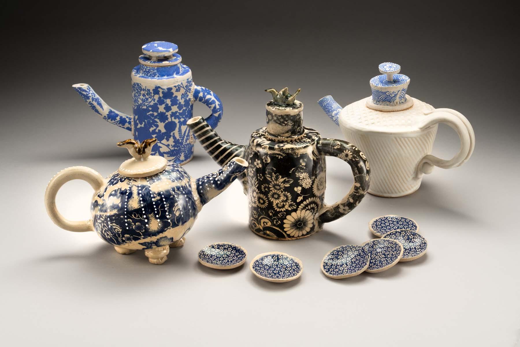 Tea Pots and Small Bowls