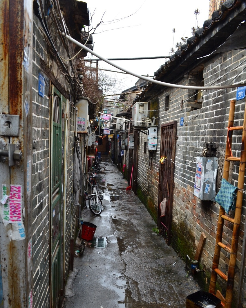 A snapshot of Hubei Village's redevelopment, from early consolidation (Photos by authors: Shi, Lamb, Qiu, Cai and Vale)