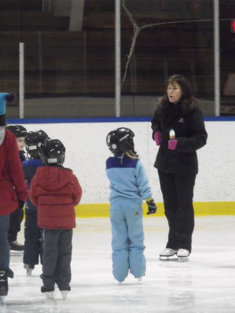 Coach Lindsey & our Learn to Skate Group - 2015