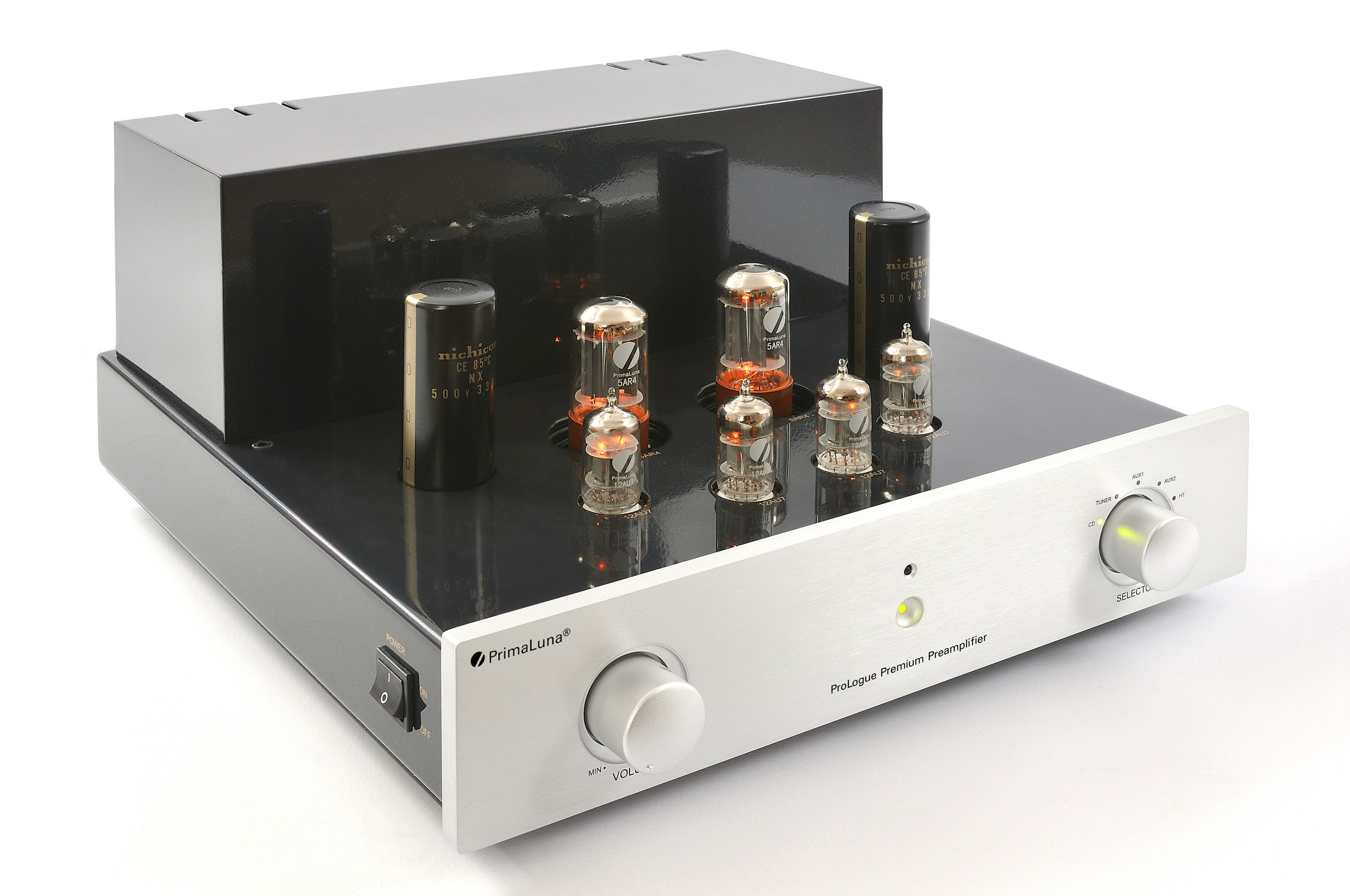 Prologue Premium Preamplifier - silver - front, side with no cover - HR - JPG.jpg