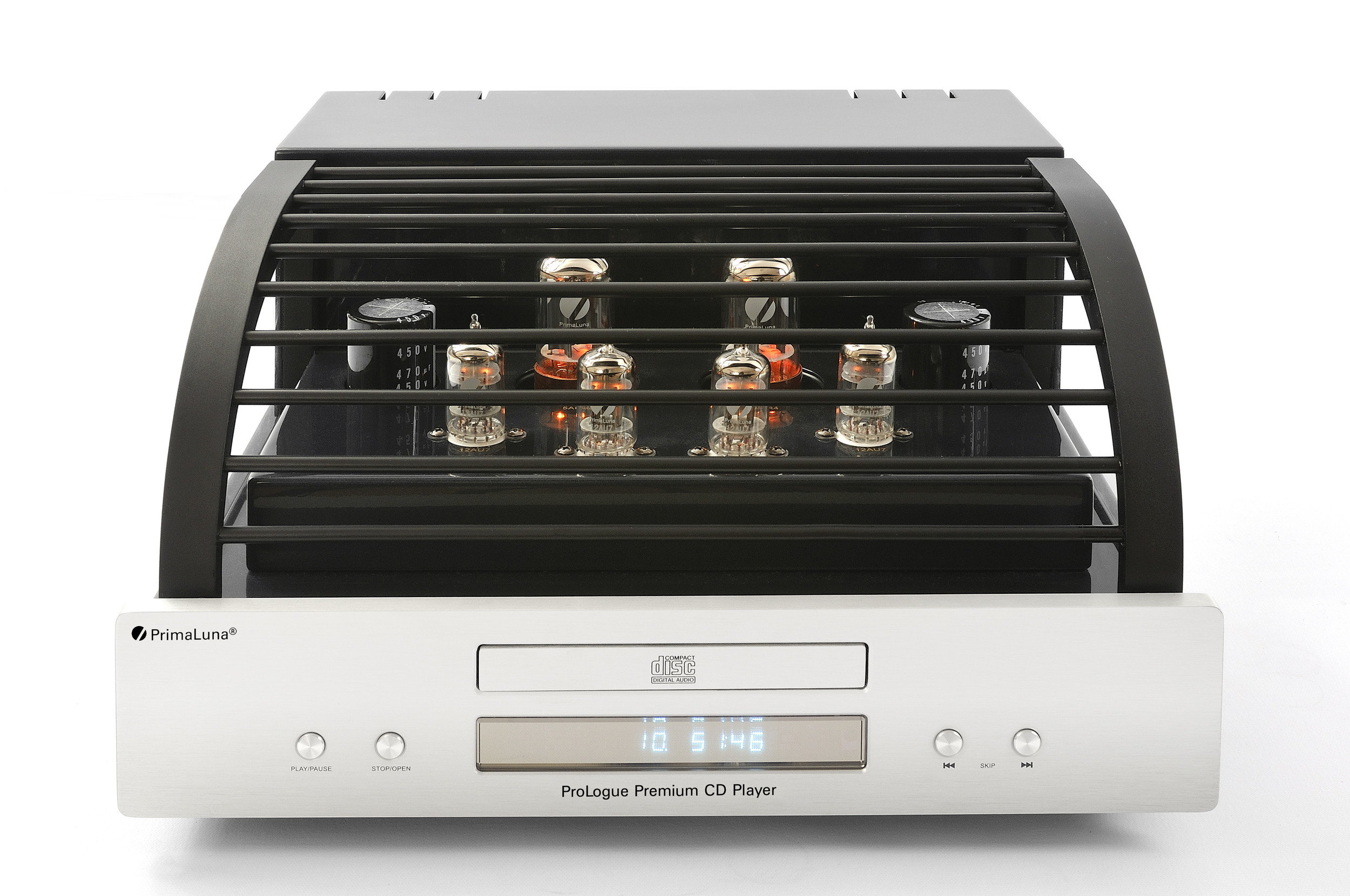 Prologue Premium CD Player - silver - front with cover - HR - JPG.jpg