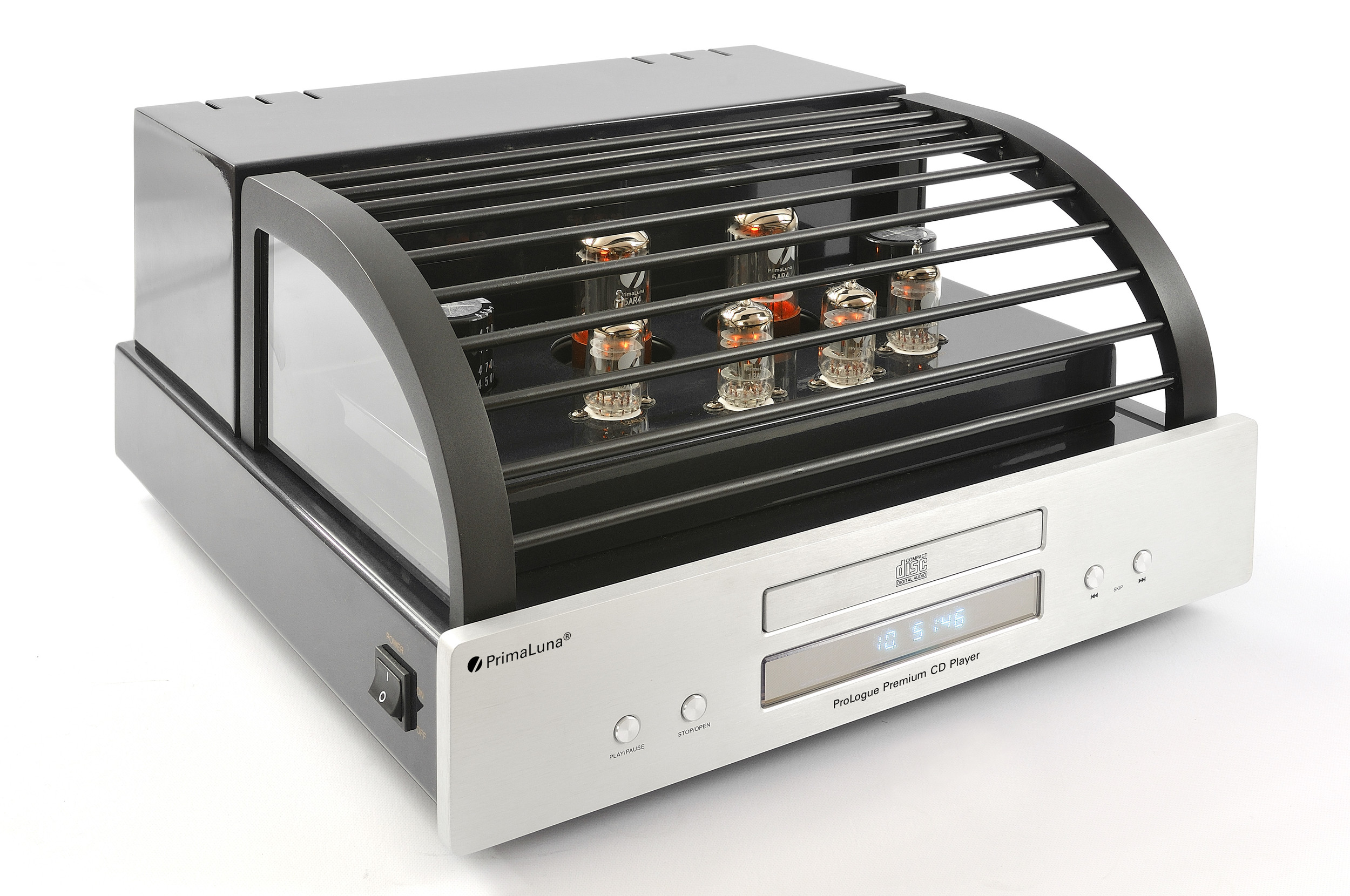Prologue Premium CD Player - silver - front, side with cover - HR - JPG.jpg