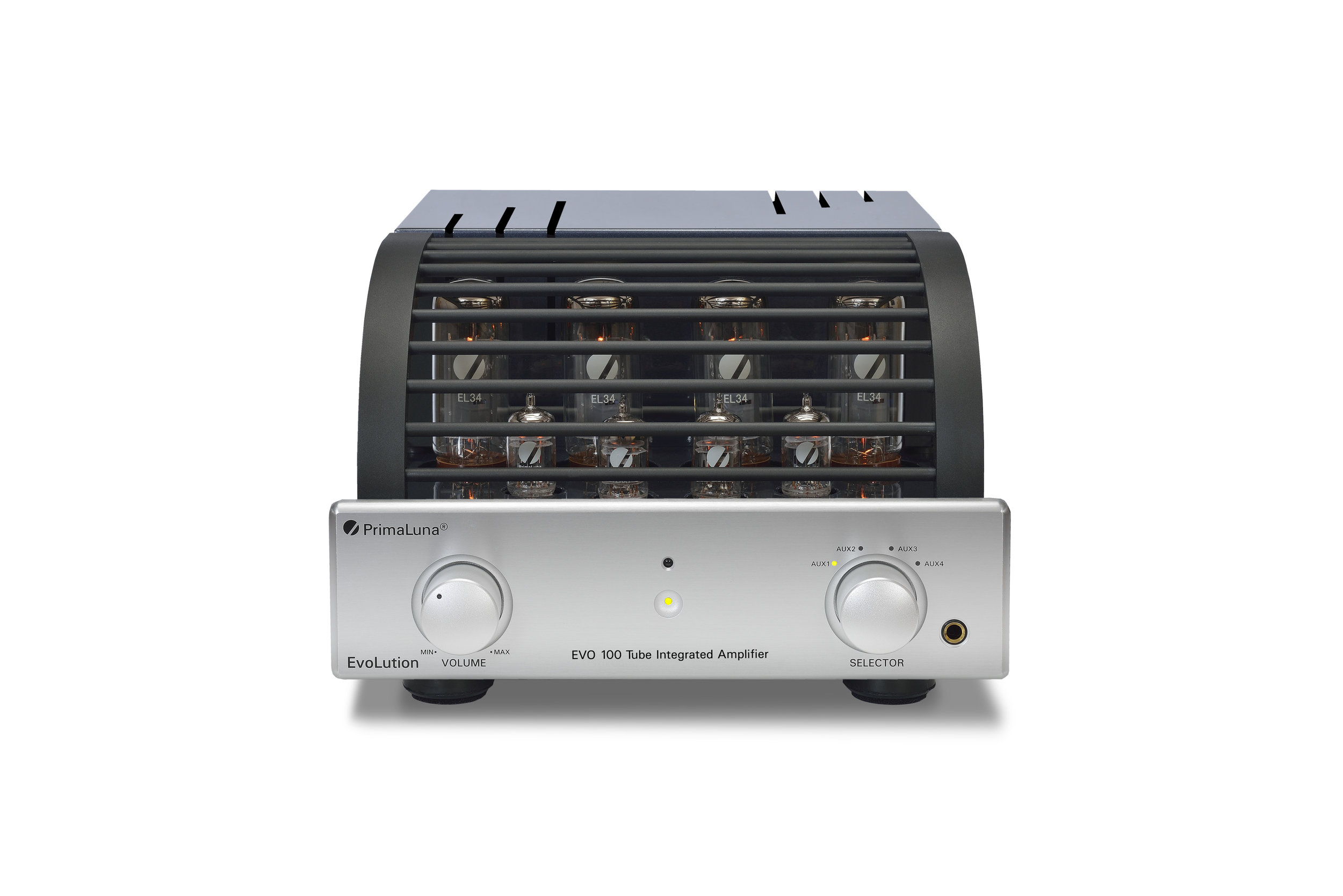 170b - PrimaLuna EVO 100 Tube Integrated Amplifier - silver - front - white background.jpg