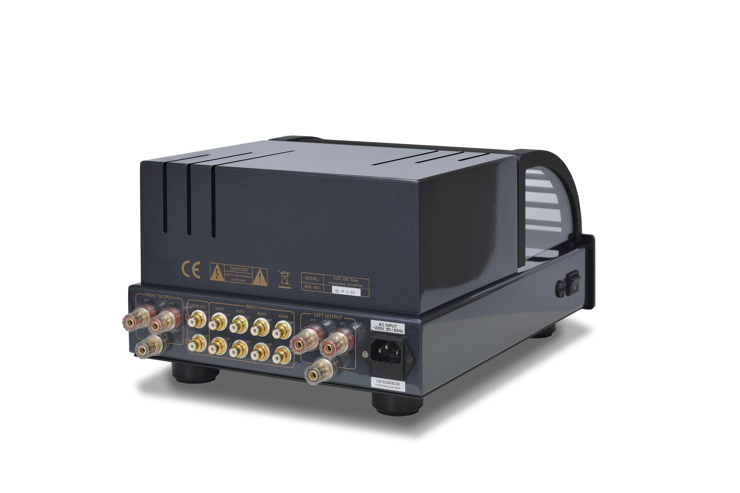 166b - PrimaLuna EVO 100 Tube Integrated Amplifier - black - slanted - white background.jpg