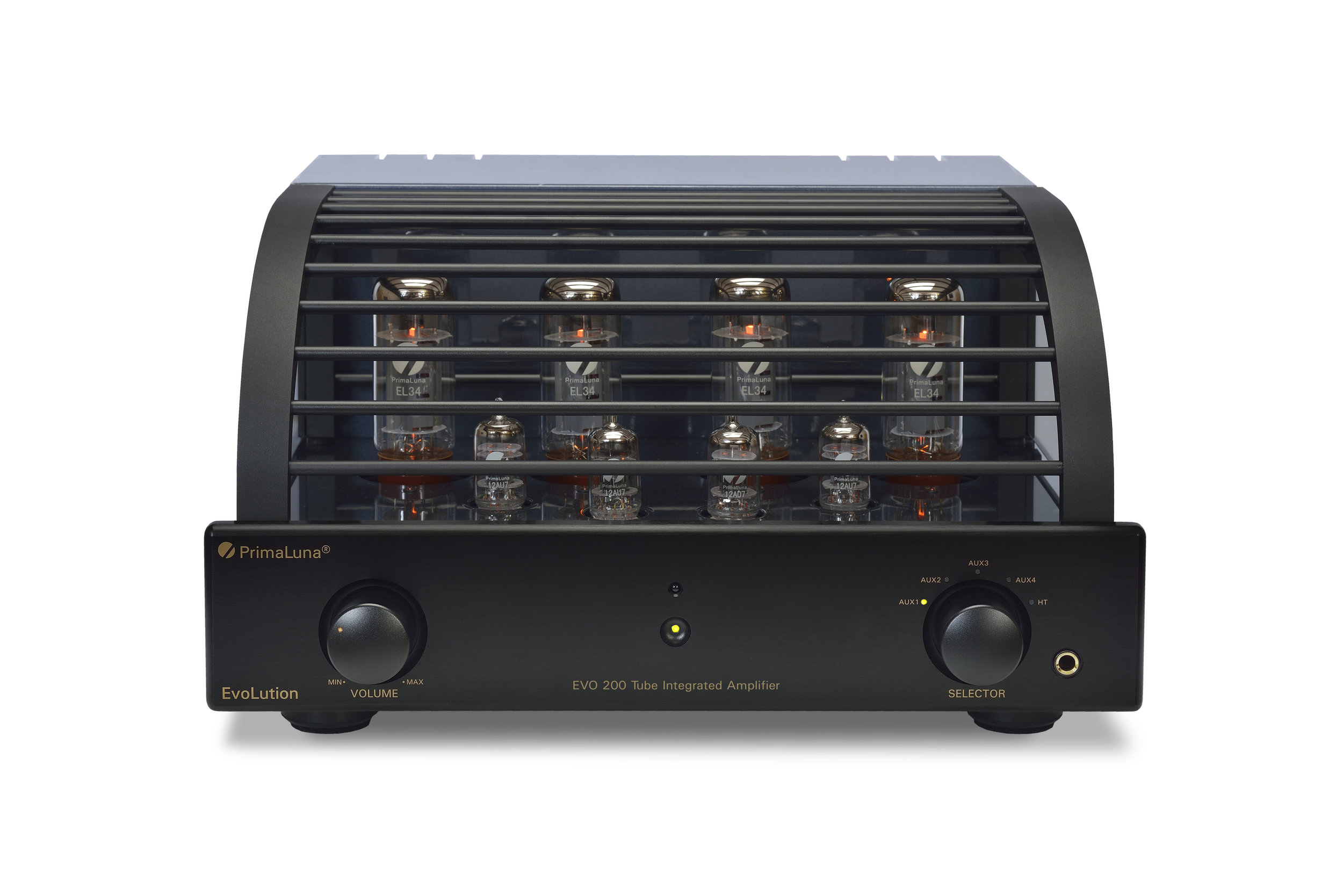 111b - PrimaLuna Evo 200 Tube Integrated Amplifier - black - front - white background.jpg