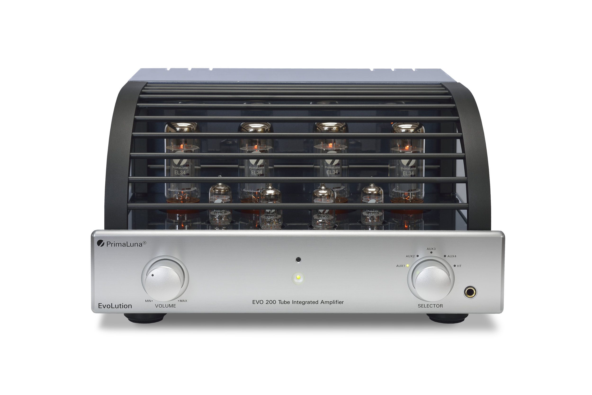 101b - PrimaLuna Evo 200 Tube Integrated Amplifier - silver - front - white background.jpg