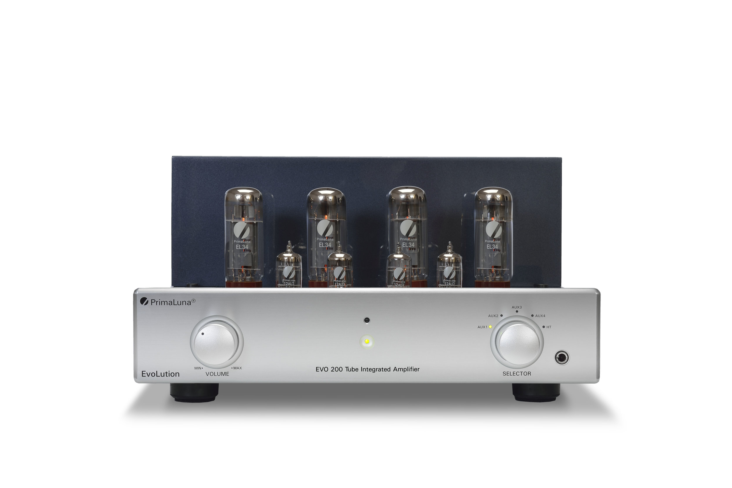 109b - PrimaLuna Evo 200 Tube Integrated Amplifier - silver - front low - white background.jpg