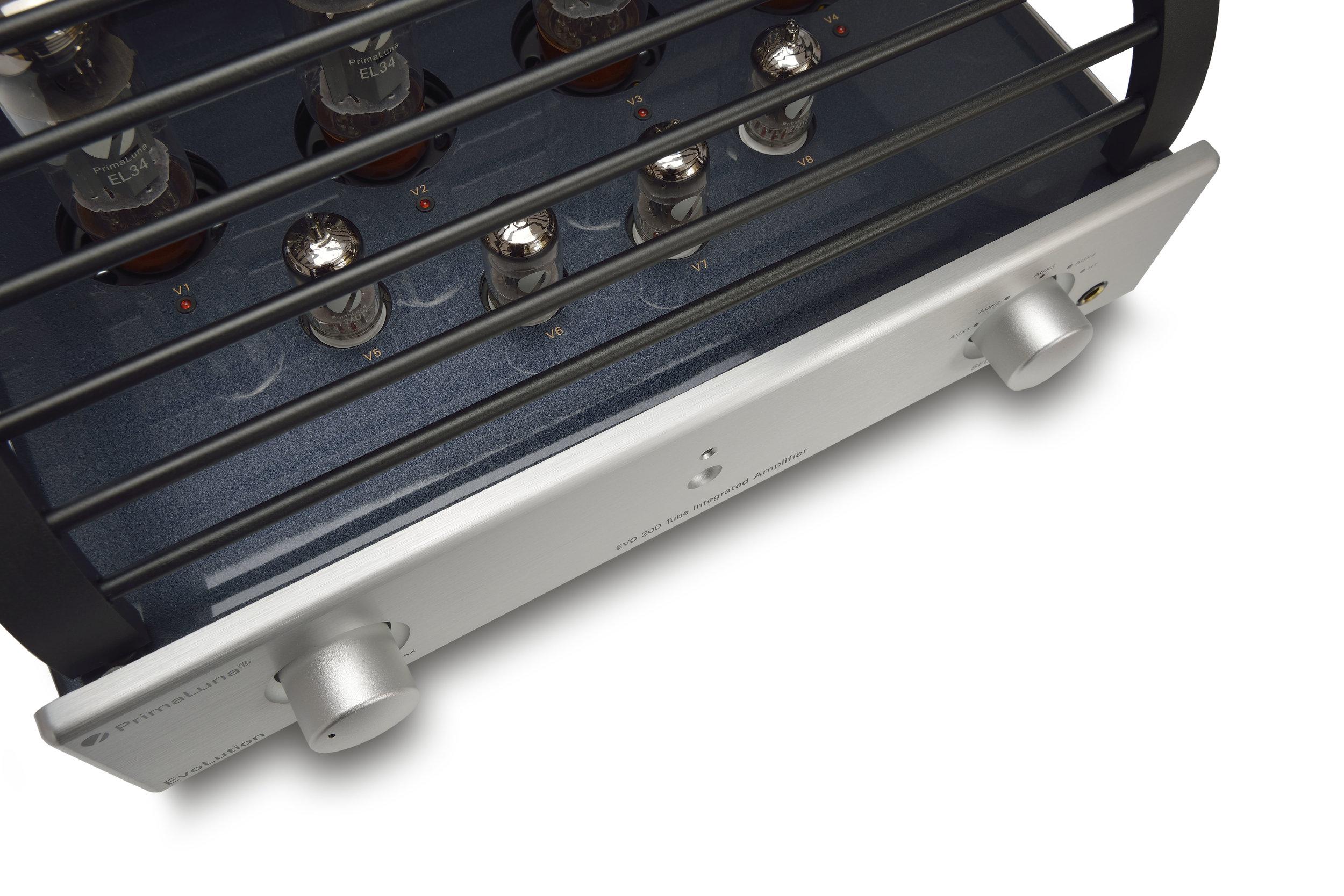 110b - PrimaLuna Evo 200 Tube Integrated Amplifier - silver - artistic - white background.jpg