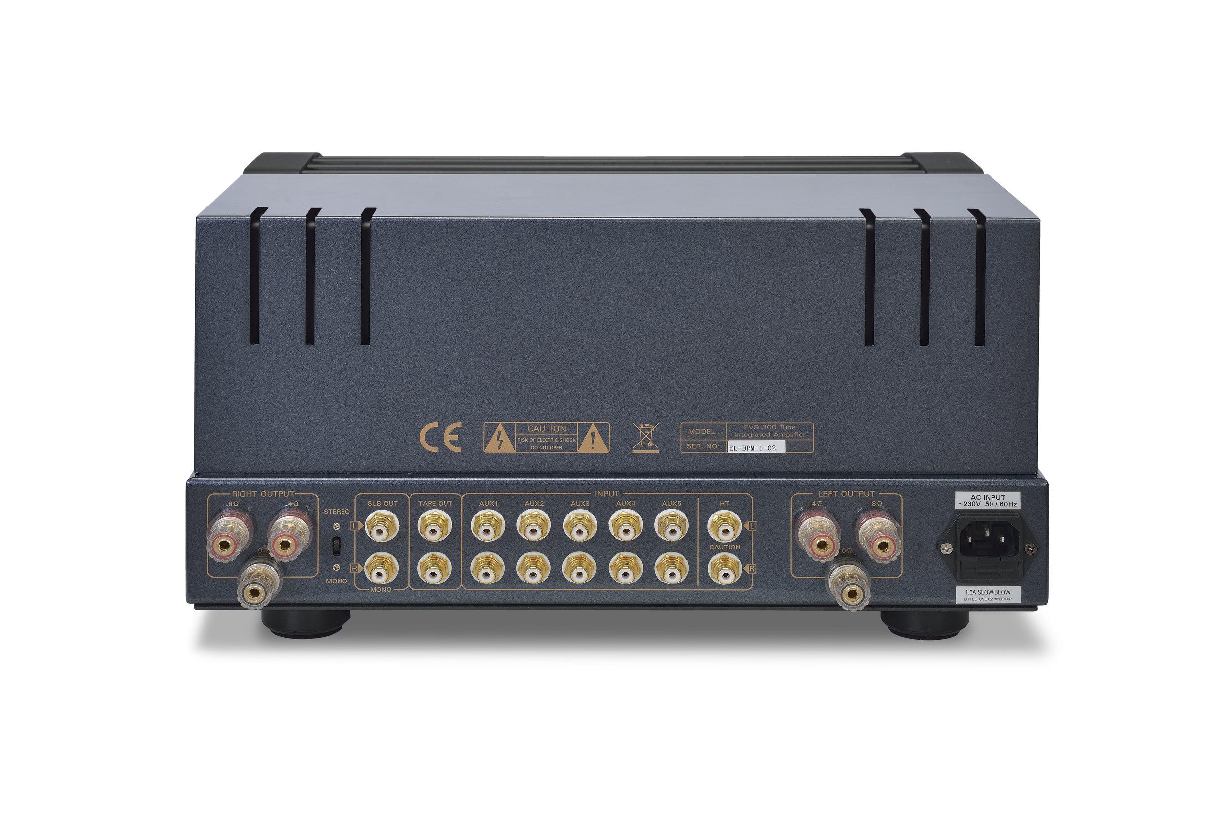 049b - PrimaLuna Evo 300 Tube Integrated Amplifier - silver - back - white background - kopie.jpg