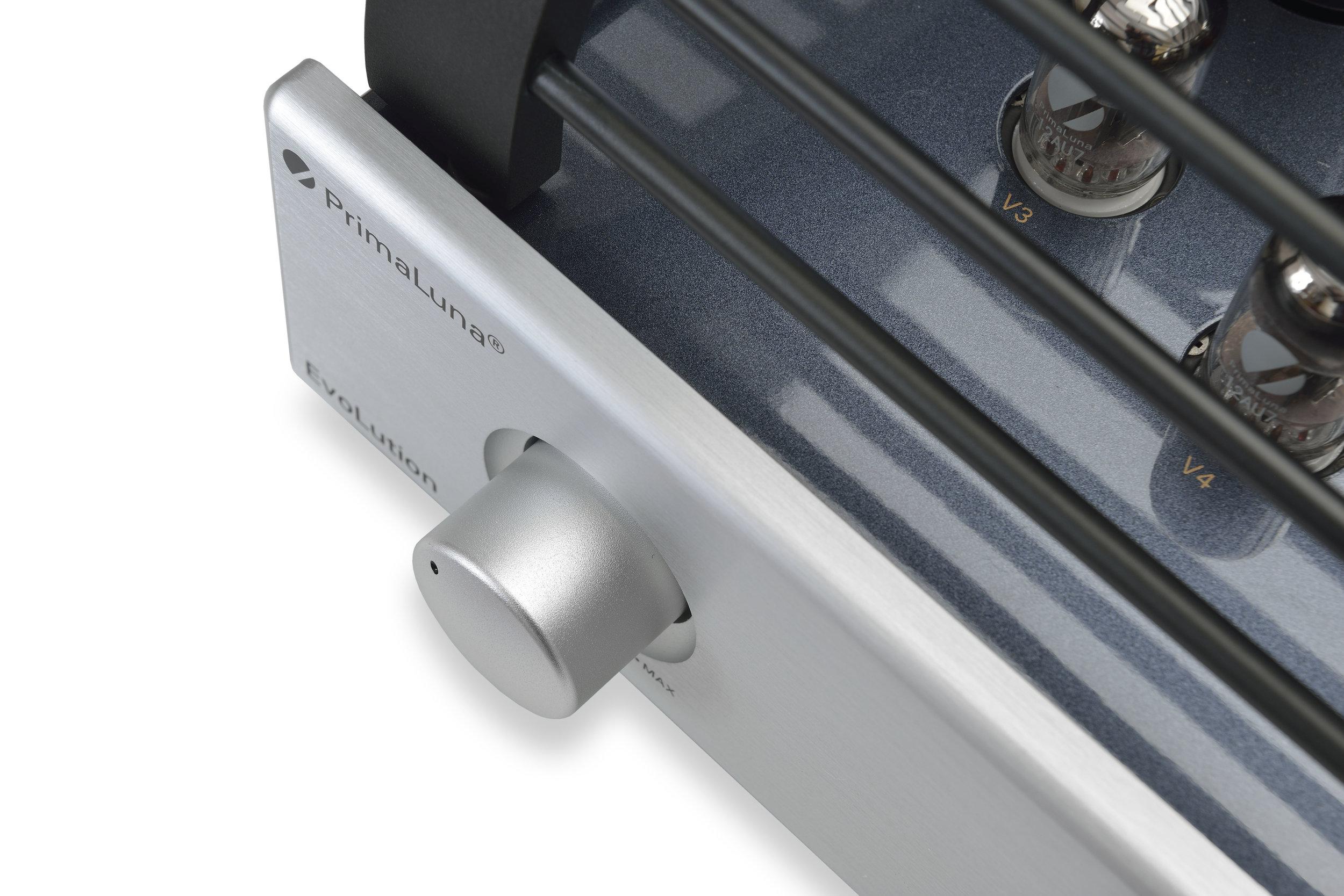 021b - PrimaLuna Evo 300 Tube Preamplifier - silver - artistic - white background.jpg
