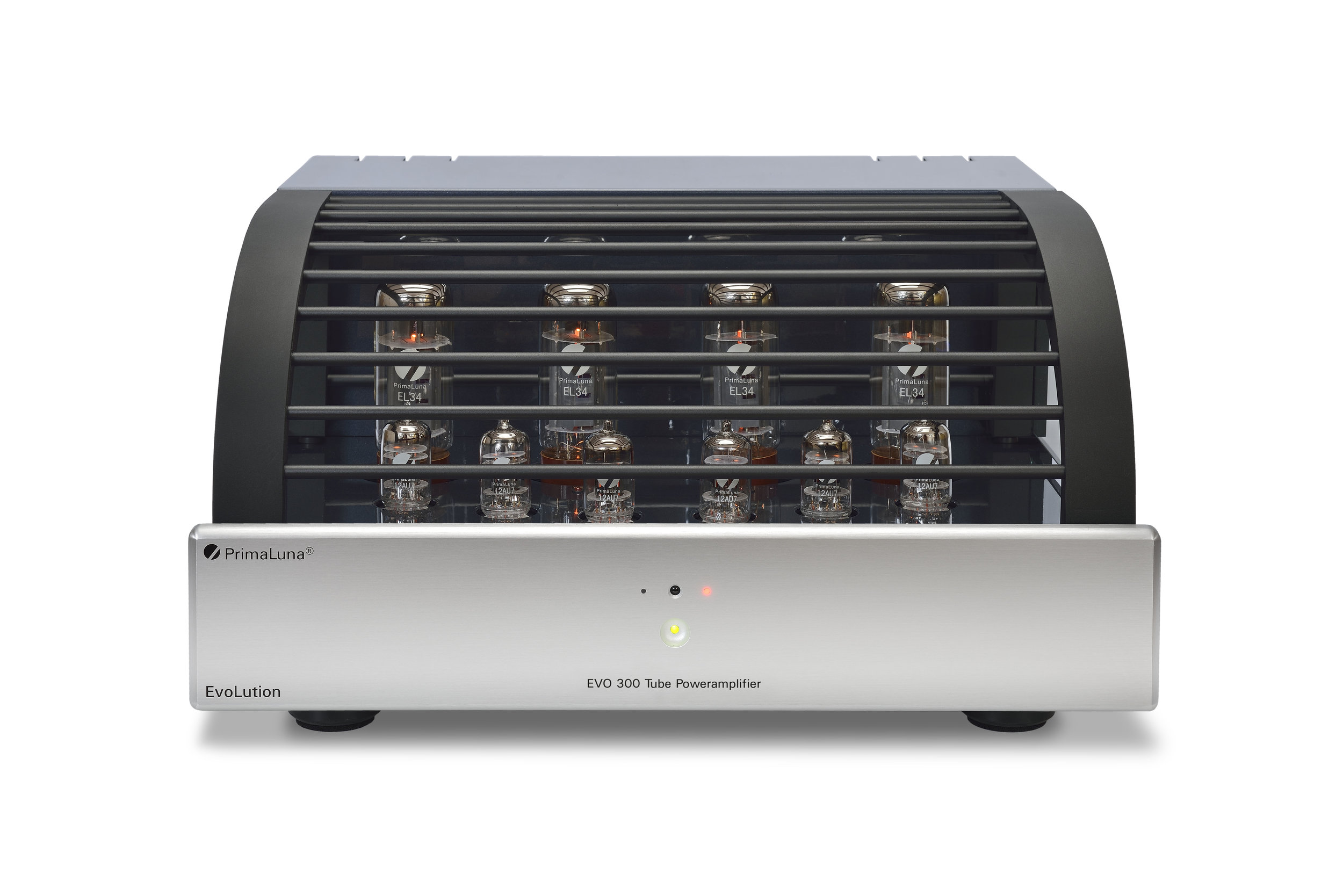 033b - PrimaLuna Evo 300 Tube Poweramplifier - silver - front - white background.jpg