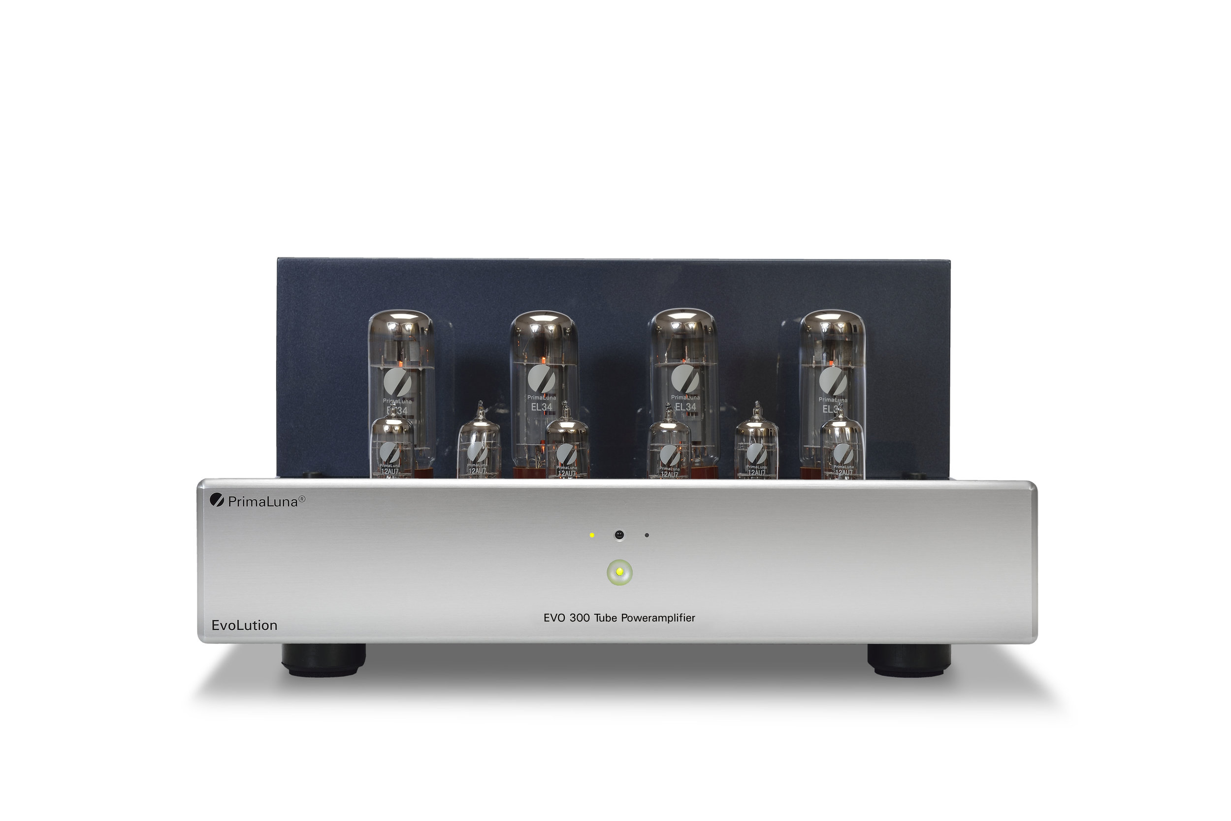 040b - PrimaLuna Evo 300 Tube Poweramplifier - silver - front low - white background.jpg