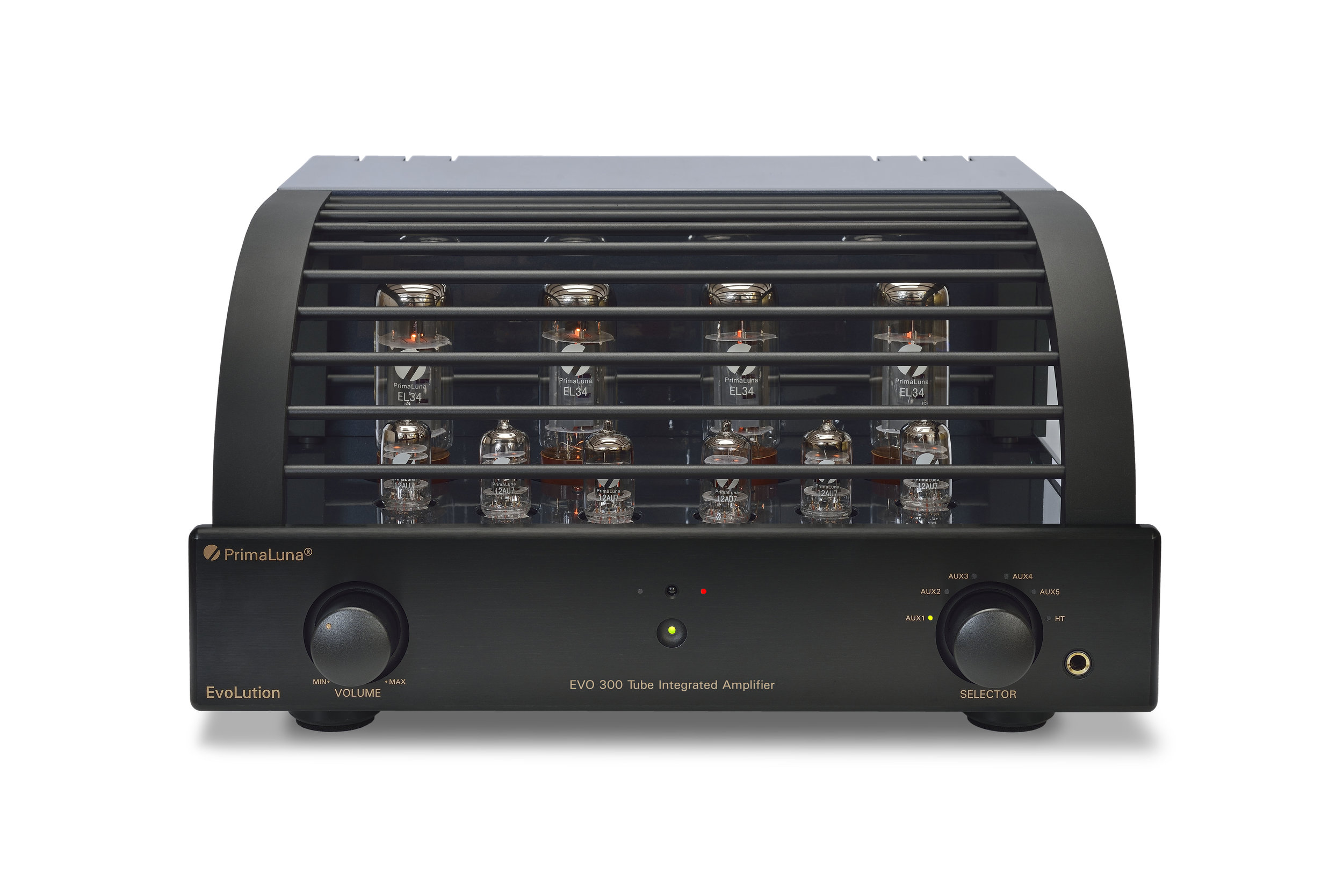 052b - PrimaLuna Evo 300 Tube Integrated Amplifier - black - front - white background - kopie.jpg