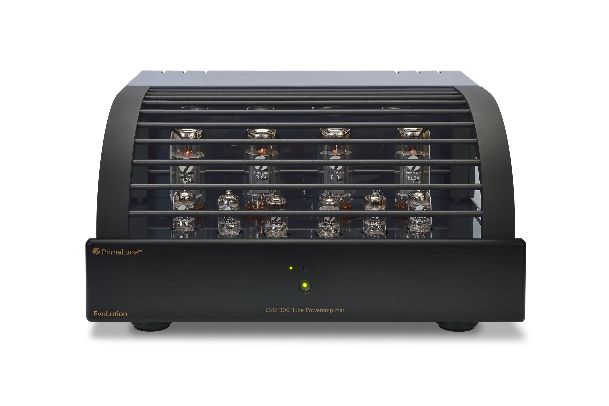 022b - PrimaLuna Evo 300 Tube Poweramplifier - black - white background.jpg